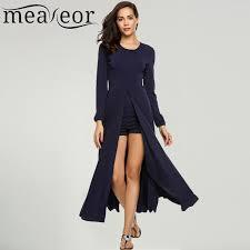 aliexpress com buy meaneor women high slit long maxi dress