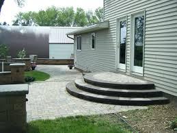 patio ideas concrete porch steps ideas exterior posh gray step