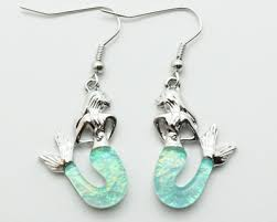 mermaid earrings mermaid earrings also known as the goddess of the sea