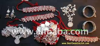 silver plated odissi jewelry set buy odissi jewelry