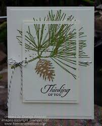 clean and simple greeting card using ornamental pine set