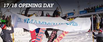17 18 opening day mammoth mountain