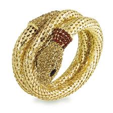 crystal mesh bracelet images Flex mesh crystal snake bangle wrap bracelet gold tone jpg