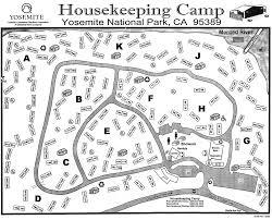 yosemite national park campground maps
