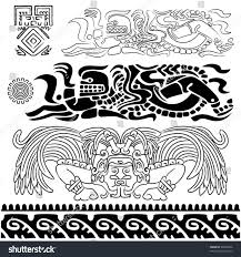 vector ancient patterns mayan gods ornaments stock vector 98284436