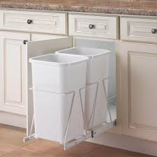 cabinet under kitchen sink garbage can pull out trash cans