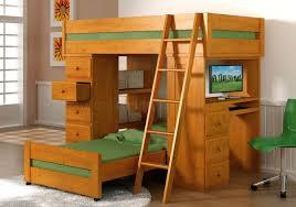 bunk bed desk combo christmas kids loft in floral carpet along