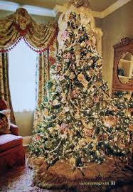 Faux Fur Christmas Tree Skirt Victorian Decorated Christmas Trees Saltbox Treasures Christmas