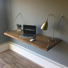 floating table wall mounted floating desk walnut