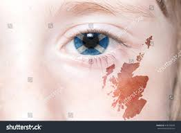 Argentina Flag Face Humans Face National Flag Map Scotland Stock Photo 478705609
