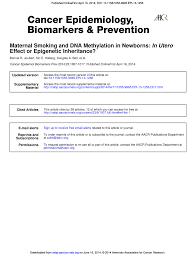 maternal smoking and dna methylation in newborns in utero effect