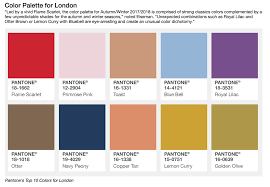 2017 Color Palette by 2017 Pantone Fall Trends