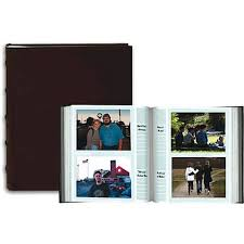 leather photo albums 4x6 pioneer 4 x 6 in sewn leather bi directional photo album 200