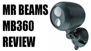 mr beams security lights mr beams mb360 wireless led spotlite review after 1 year youtube