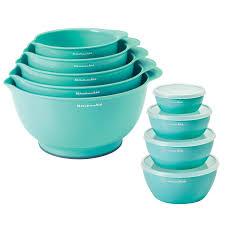 kitchenaid mixing bowls u0026 prep bowls 9 piece set assorted colors