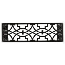 liadan global bazaar black wood trellis console table kathy kuo home