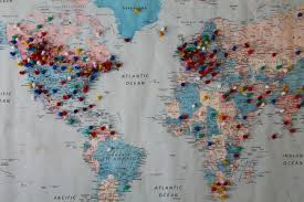 World Map With Pins by Image In Travel Collection By Sola On We Heart It