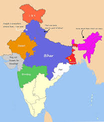South India Map by How Indians See India Guruprasad U0027s Portal