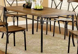 Industrial Style Dining Room Tables Amazon Com Furniture Of America Rizal Industrial Style Dining