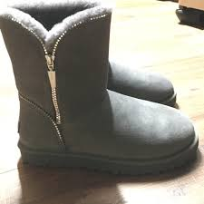 zipper ugg boots sale 6 ugg shoes grey florence zipper detail ugg boots from