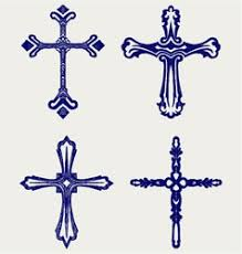religious cross design collection royalty free vector image