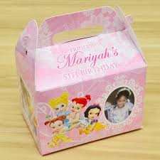 personalized favor boxes baby disney princesses themed personalized favor boxes gift