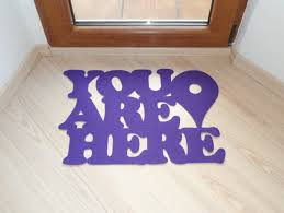 doormat you are here with google maps pin custom