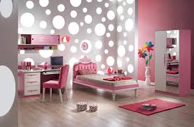amusing white grey polka dot wall decals with single bed frame amusing white grey polka dot wall decals with single bed frame also custom study desk feat upholstery pink chairs also square pink mat on laminate wood