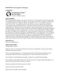 nonprofit cover letter sample event manager cover letter images