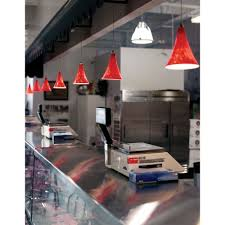 Red Pendant Light by Ferrari Red Melrose Mini Pendant Light With 4 Inch Freejack Canopy