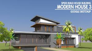 build a house sketchup speed build modern house 3