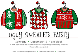 ugly sweater christmas party invitations template themesflip