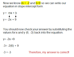 writing linear equations given slope and a point