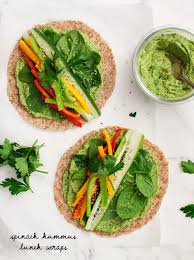 Gingerdoodle by Spinach Hummus Lunch Wraps Recipe U2013 Thedirtygyro