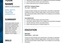 Microsoft Word Templates Resume Microsoft Template Resume Jospar