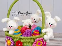 easter basket bunny ravelry bunnies easter basket pattern by carolina guzman