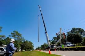fpl street light program fpl installs new poles to strengthen electric grid and help