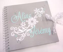 livre sur le mariage livre d or mariage flocons hiver miniálbuns
