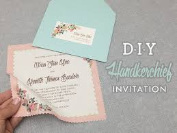 wedding invitations diy vintage handkerchief wedding invitation diy with print