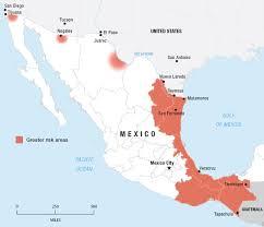 regions of mexico map map a perilous journey across mexico npr