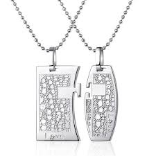 custom necklaces for couples 26 best engraved couples necklaces for 2 images on