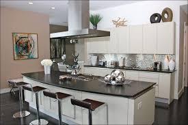Kitchen  Stainless Steel Backsplash Behind Stove Bronze Tile - Stainless tile backsplash
