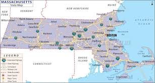 road map massachusetts usa map of massachusetts state map of america