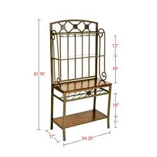 Metal Bakers Rack With Wine Storage Battery Product List