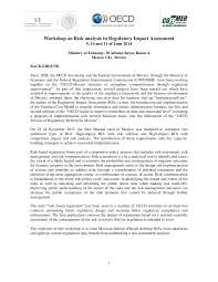 risk assessment in regulatory policy analysis mexico 9 11 june 2014 u2026
