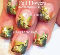 easy autumn nail art autumn nailsart