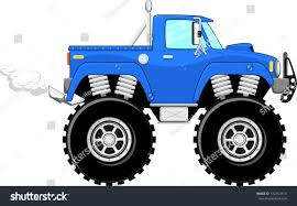 bigfoot 4x4 monster truck monster truck 4x4 cartoon isolated on stock vector 142762414