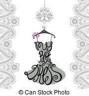 clip art vector of woman dress silhouette words best dress