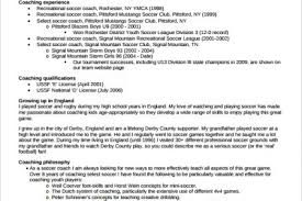 Sample Basketball Coach Resume by Resume Samples Soccer Coach Resume Template And Soccer Player