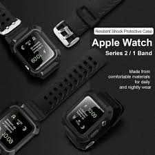 apple watch 3 indonesia silicone resilient protective case with strap for apple watch series